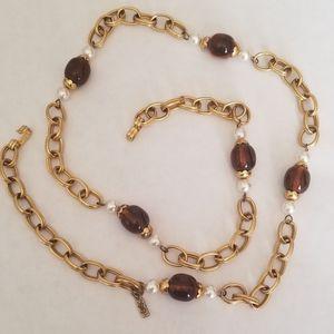 Vintage YVES SAINT LAURENT Chain Belt/Necklace